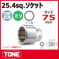 TONE(トネ) ソケット(12角)  8D-75